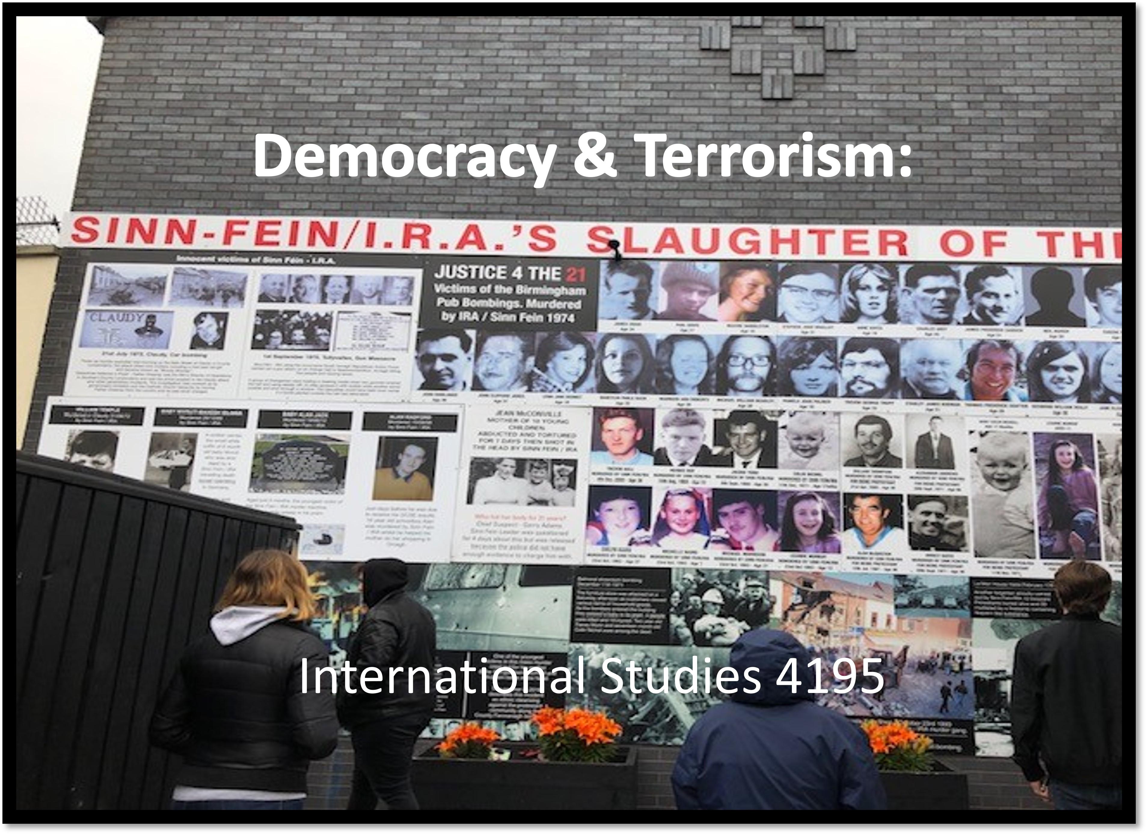 Democracy & Terrorism Course flyer Icon