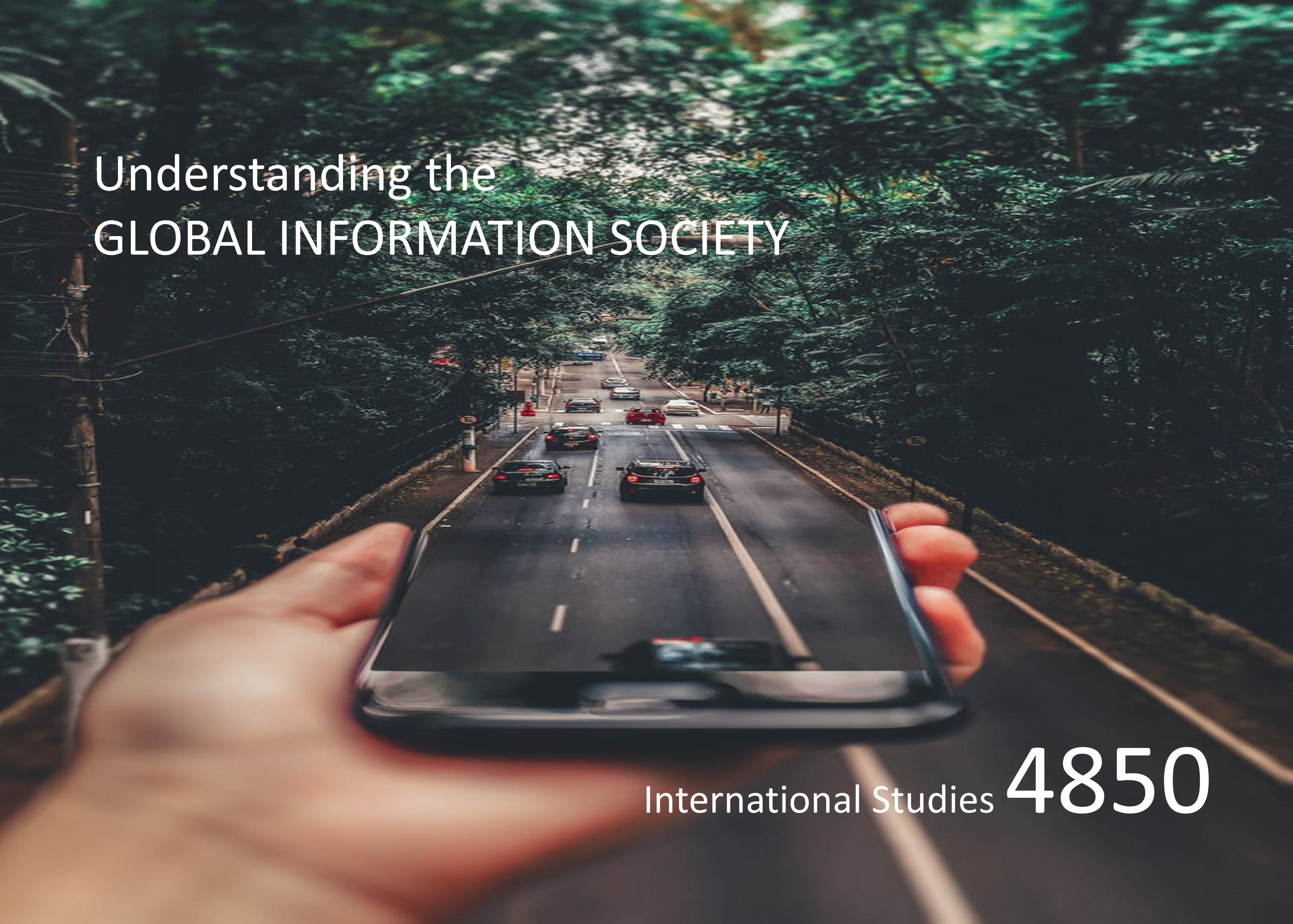Course flyer for Understanding the Global Information Society