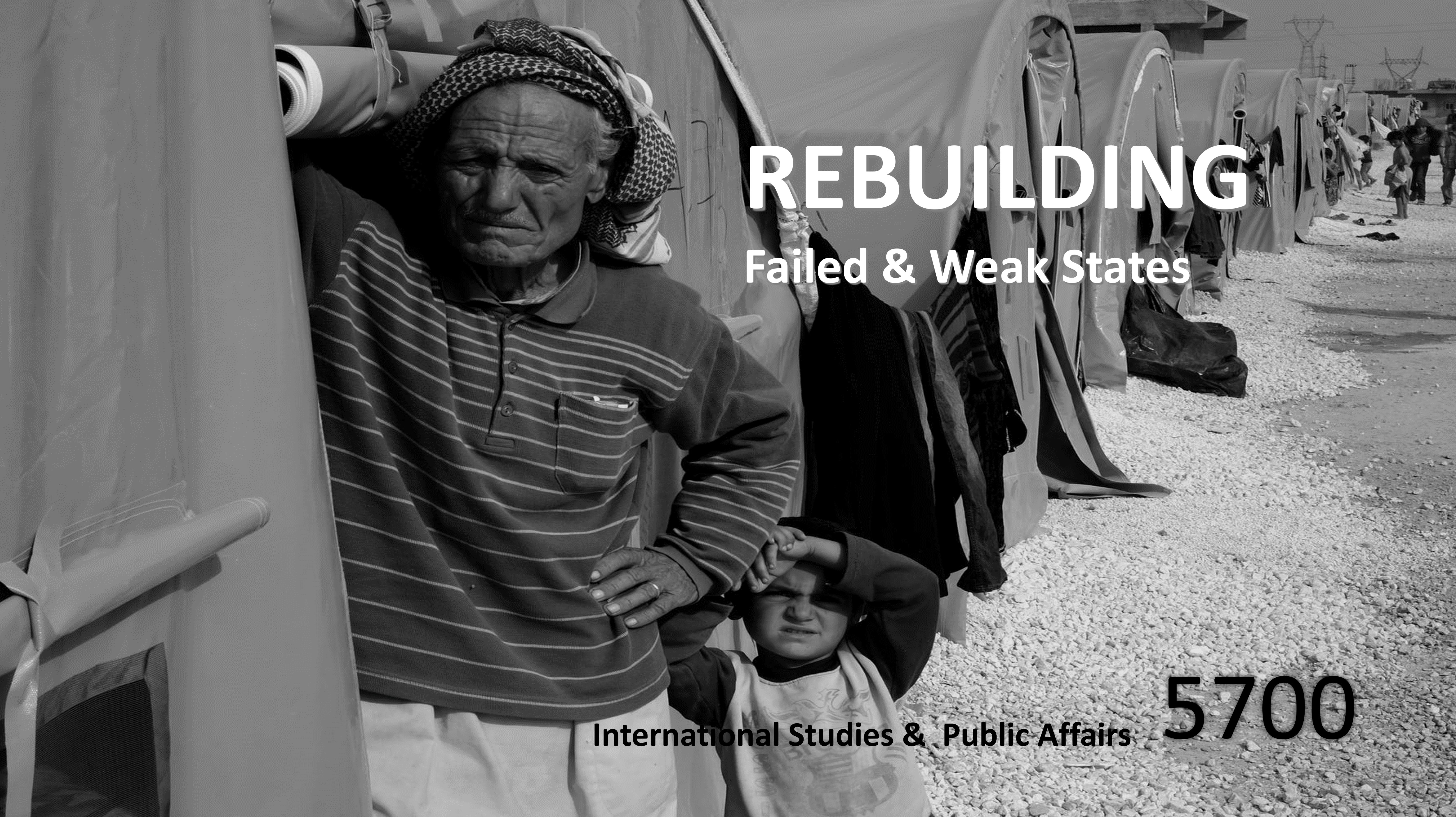 Rebuilding Failed and Weak States course flyer