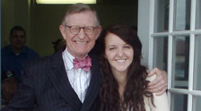 Gordon Gee, former OSU President, and Megan Swillinger.